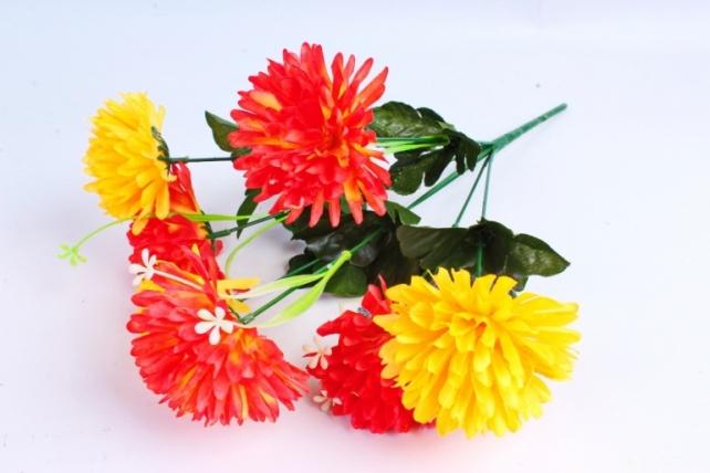 Искусственное растение - Гвоздика желто-красная