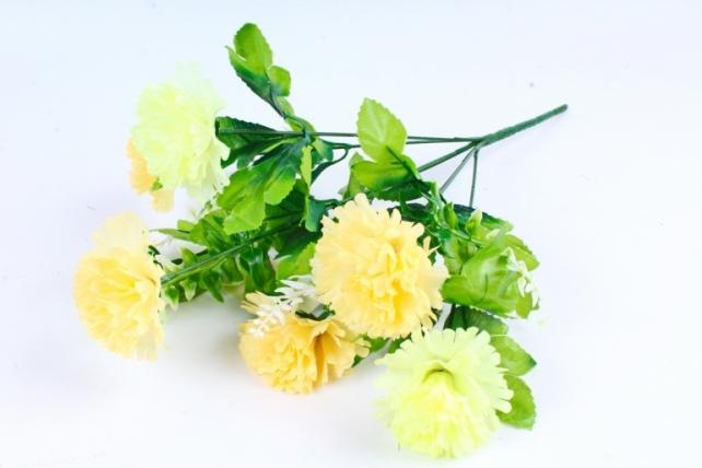 Искусственное растение - Гвоздика с папоротником персиковая