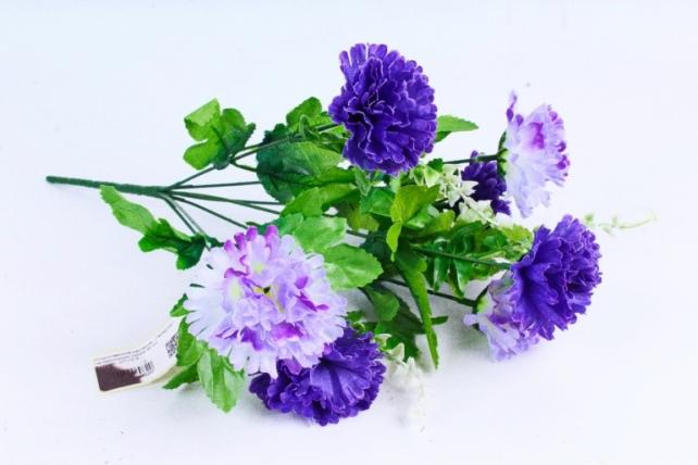 Искусственное растение - Гвоздика с папоротником синяя