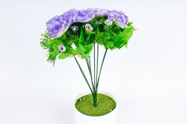 Искусственное растение - Гвоздики с туей  сиренвые