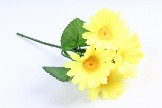 Искусственное растение - Хризантемы  жёлтые