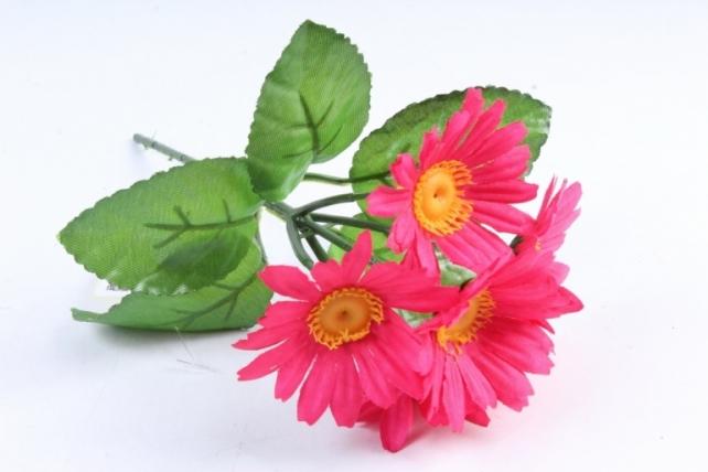 Искусственное растение - Хризантемы малиновые