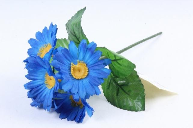 Искусственное растение - Хризантемы  синие