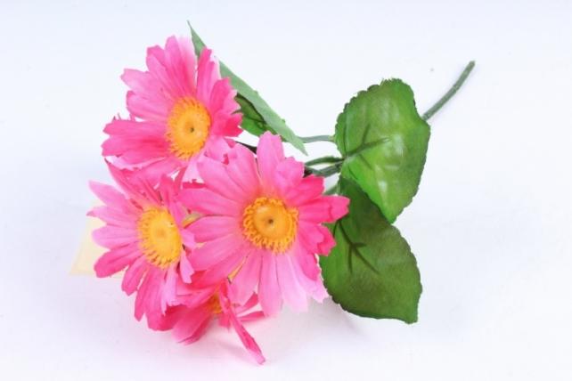 Искусственное растение - Хризантемы ярко-розовые