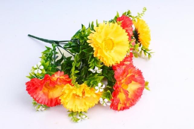 Искусственное растение - Хризантемы оранжевые