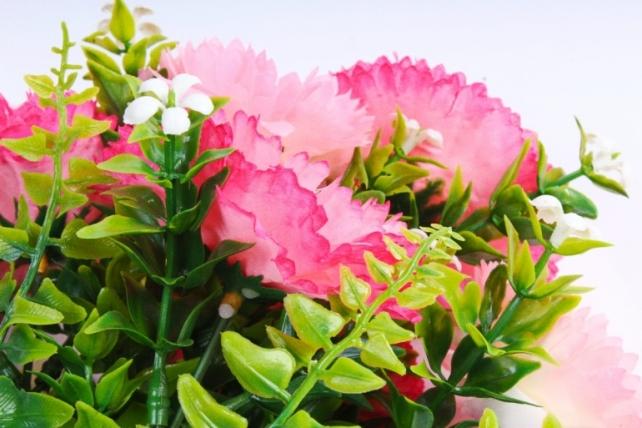 Искусственное растение - Хризантемы розовые
