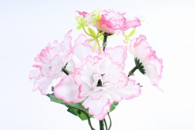 Искусственное растение - Хризантемы с  декором   бело-розовые