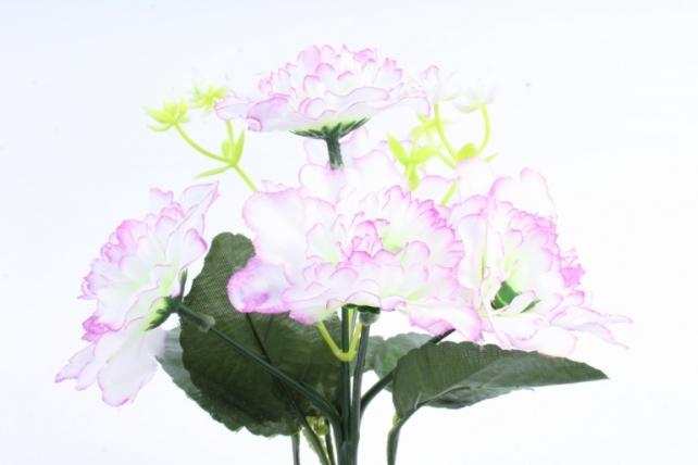 Искусственное растение - Хризантемы с  декором   бело-сиреневый