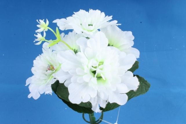 Искусственное растение - Хризантемы с  декором   белые