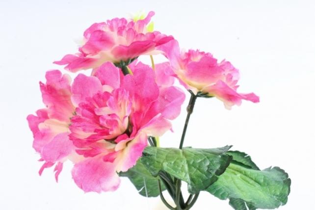 Искусственное растение - Хризантемы с  декором   брусничный