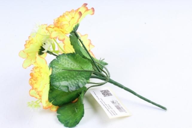 Искусственное растение - Хризантемы с  декором  жёлтый неон