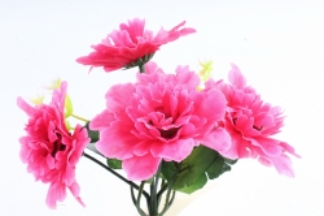 Искусственное растение - Хризантемы с  декором   малиновые