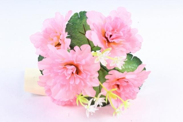 Искусственное растение - Хризантемы с  декором  розовый неон
