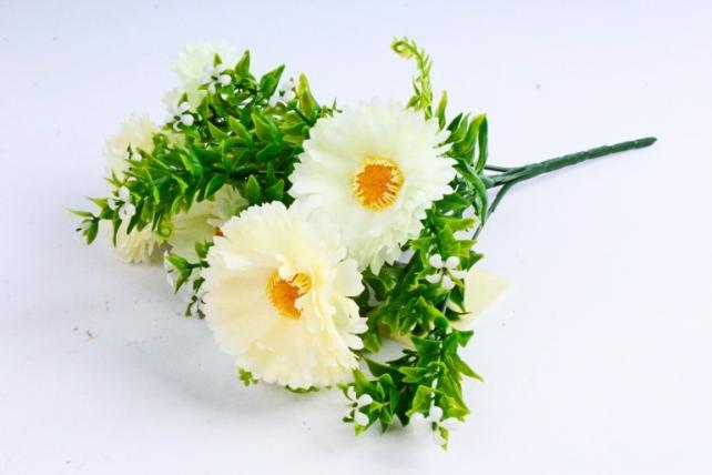 Искусственное растение - Хризантемы шампань