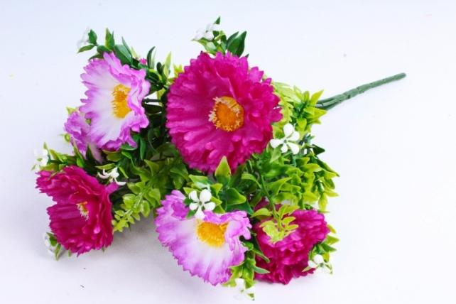 Искусственное растение - Хризантемы сиренево-розовые