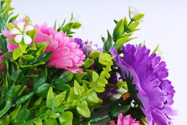 Искусственное растение - Хризантемы сиреневые