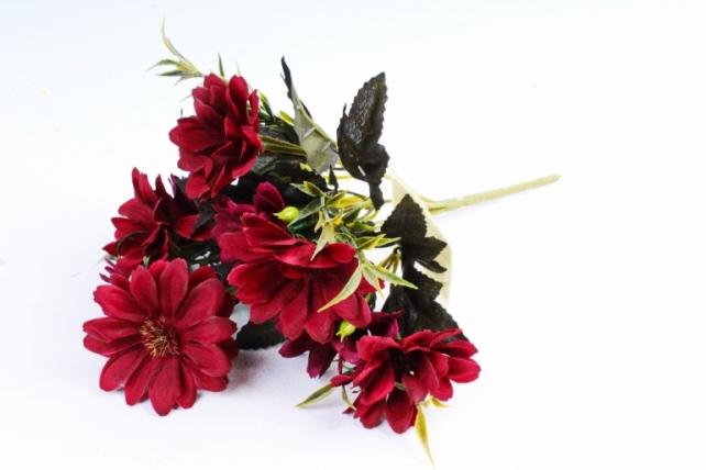 Искусственное растение - Хризантемы Винтаж бордо