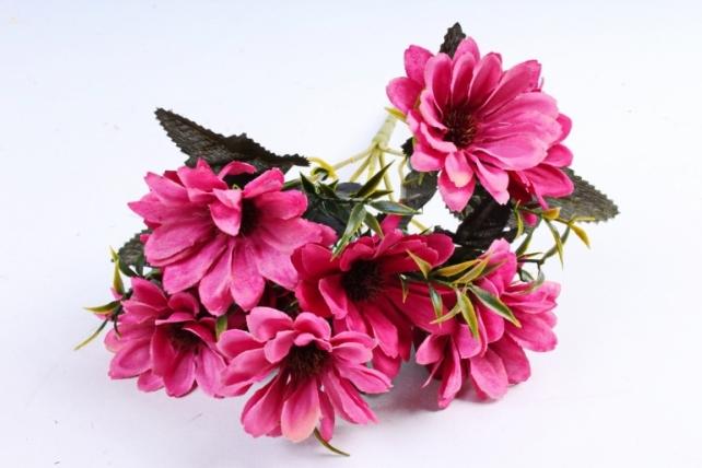 Искусственное растение - Хризантемы Винтаж малиновые