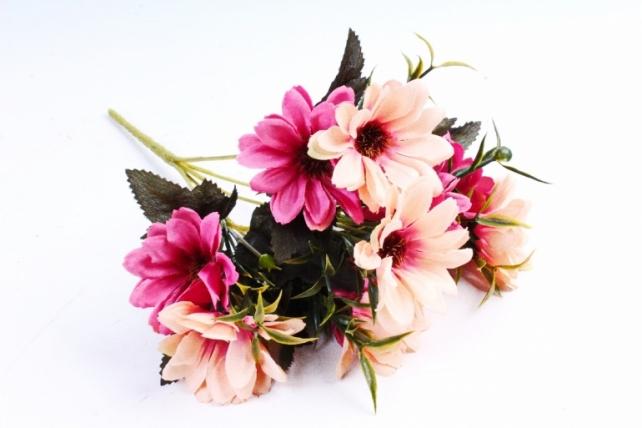 Искусственное растение - Хризантемы Винтаж персик/малина