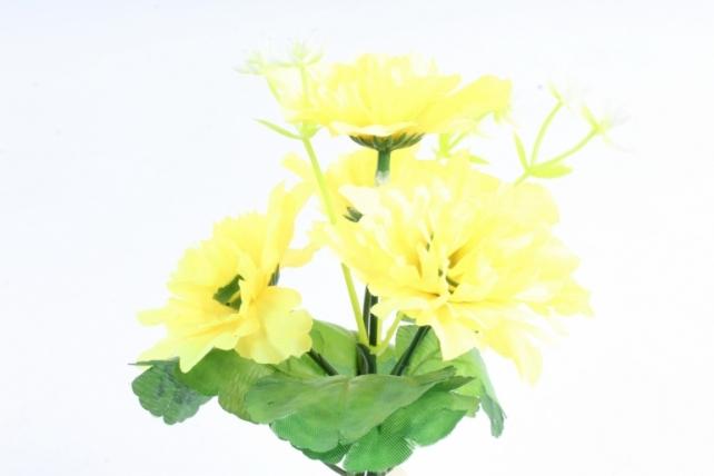 Искусственное растение - Хризантемы  декором   жёлтые
