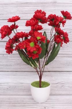 Искусственное растение - Календула Н=43 см красная Б11003