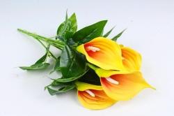 Искусственное растение - Каллы  жёлто-красные