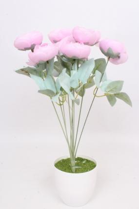 """Искусственное растение - Камелии """"Нежность"""" сиренево-розовые Н=45 см Б10985"""