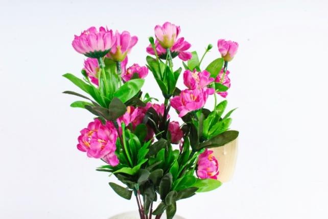 Искусственное растение - Камелия махровая фуксия