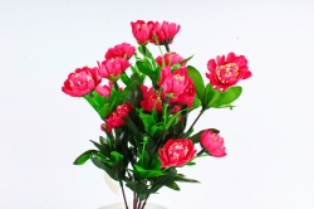 Искусственное растение - Камелия махровая малиновая
