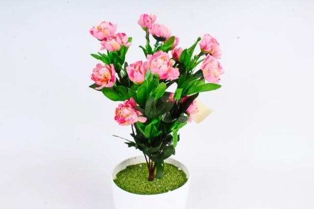 Искусственное растение - Камелия махровая розовая