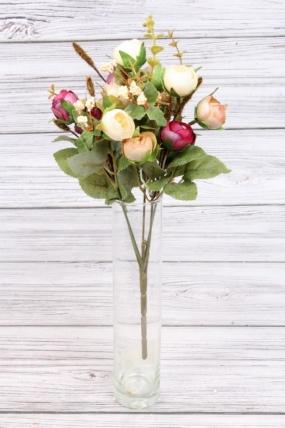 Искусственное растение - Камелия перламутровая 35 см персиково-бордовая