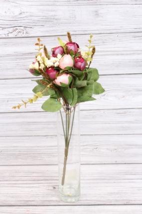 Искусственное растение - Камелия перламутровая 35 см розово-бордовая