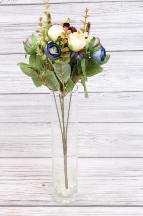 Искусственное растение - Камелия перламутровая 35 см сине-шоколадная