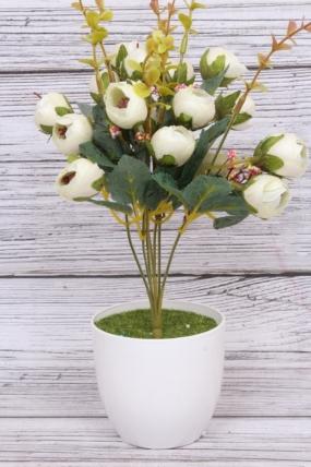 Искусственное растение - Камелия перламутровая Н=35 см белая  Б8007