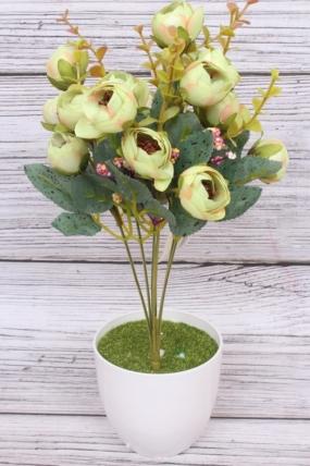 Искусственное растение - Камелия перламутровая Н=35 см салатовая  Б8007