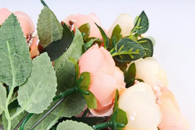 Искусственное растение - Камелия персик/шампань