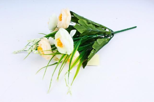 """Искусственное растение - Камелия с """"кашкой"""" персик/шампань"""