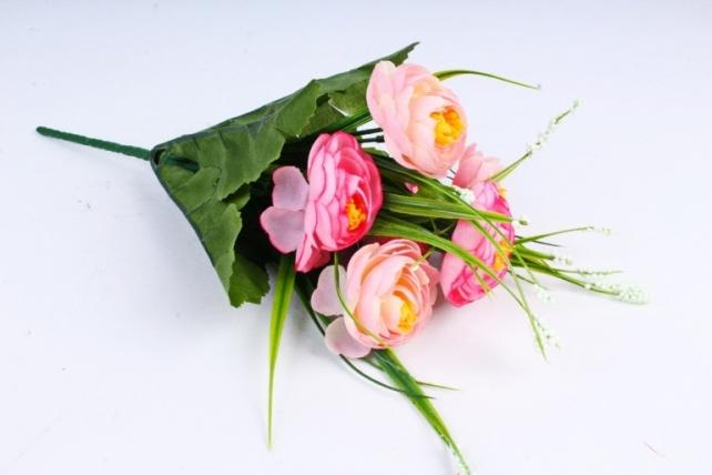 """Искусственное растение - Камелия с """"кашкой"""" розовая"""