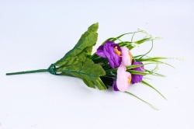 """Искусственное растение - Камелия с """"кашкой"""" сиренево-фиолетовая"""