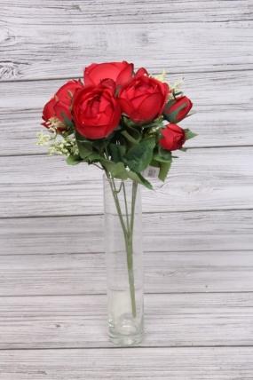 Искусственное растение - Камелия с таволгой 35 см красная
