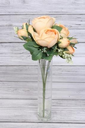 Искусственное растение - Камелия с таволгой 35 см персиковая