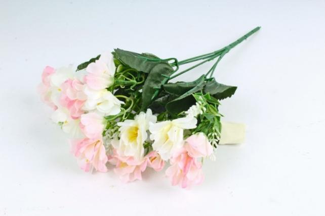 Искусственное растение - Камелия с вереском бело-розовая