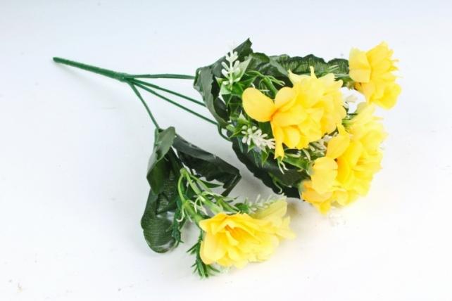 Искусственное растение - Камелия с вереском жёлтая