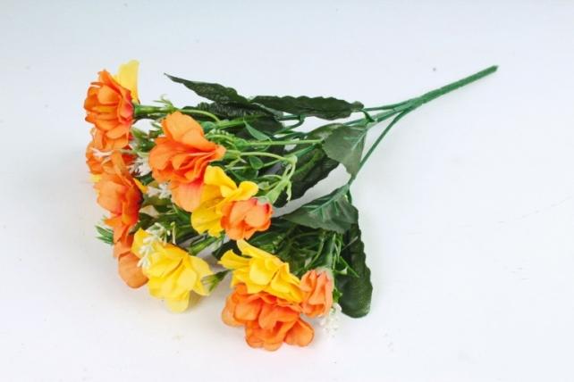 Искусственное растение - Камелия с вереском оранжевая