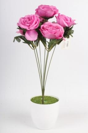 Искусственное растение - Камелия сатиновая розовая Н=45 см Б11054