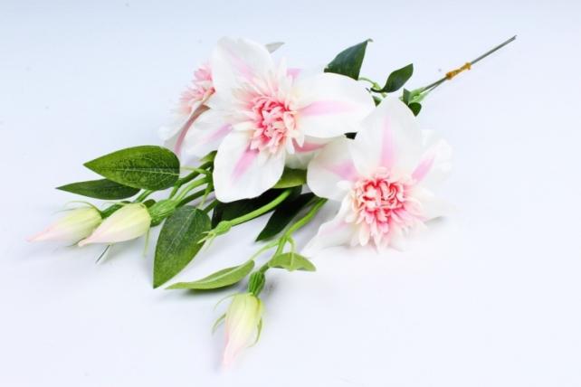 Искусственное растение - Клематис бело-розовый  (3 шт в уп)  SUN540