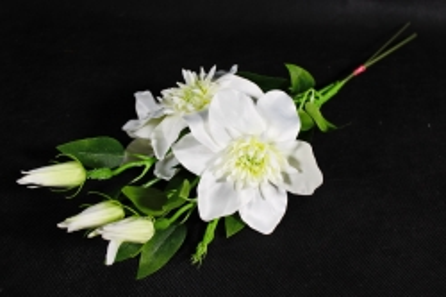Искусственное растение - Клематис белый   (3 шт в уп)  SUN540