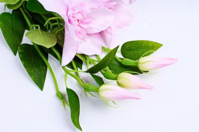 Искусственное растение - Клематис розовый   (3 шт в уп)  SUN540