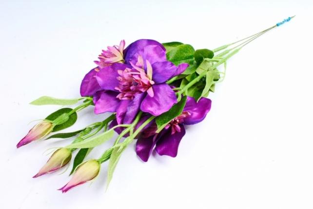 Искусственное растение - Клематис сине-фиолетовый   (3 шт в уп)  SUN540
