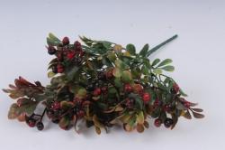 Искусственное растение - Клюква матовыя бордо Н=31 см Б10923